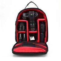 80d750d6d5d4相机包防盗单反双肩摄影大容量户外电脑摄像