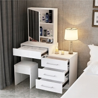 【限时7折】床头柜梳妆台网红ins风女卧室小户型收纳柜一体现代简约化妆台桌