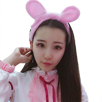束发带 猫耳朵韩国可爱化妆敷面膜发套女洗澡洗脸发箍头巾 粉色 常规