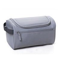 洗漱包男女士出差旅行便携防水大容量旅游用品化妆包收纳袋洗刷包 灰色(大号) 牛津布