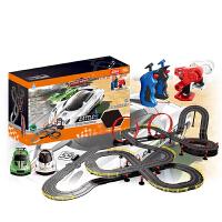 ?儿童男孩亲子双人赛道汽车轨道竟速赛车玩具电动遥控手摇发电?