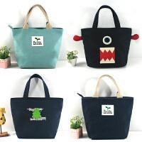 饭盒袋手拎布袋子装饭盒的手提包午餐便当包帆布小号韩式