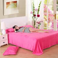夏季空调毯珊瑚绒毯子加厚毛毯床单午睡单人双人毛巾薄被子