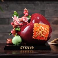 平安富贵 苹果摆件陶瓷酒柜装饰品搬家礼物玄关摆件镇宅