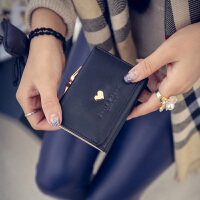 女士钱包 女短款日韩版简约学生小钱包迷你零钱包三折叠钱包
