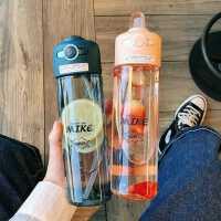 �n版原宿��性塑料杯�\��敉夥缆┍�y水�啬信��W生水杯成人吸管杯