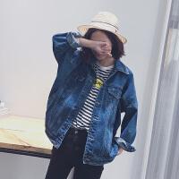 复古大码宽松蝙蝠袖学生牛仔衣外套女春装新款韩版休闲夹克上衣潮