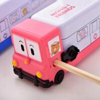 三层文具盒儿童多功能铅笔盒铅笔袋可爱铁笔盒