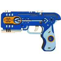 木制玩具皮筋枪儿童模型立体拼图cs手工制作拼装木头3diy