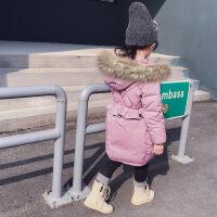 №【2019新款】冬天儿童穿的女童棉衣中长加厚儿童羽绒棉袄外套洋气宝宝冬装