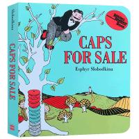 正版现货 卖帽子 英文原版绘本 纸板书 Caps for Sale Board Book 吴敏兰绘本123 4-8岁儿