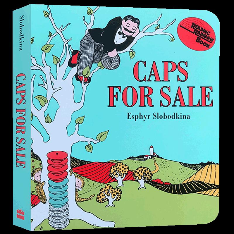 正版现货 卖帽子 英文原版绘本 纸板书 Caps for Sale Board Book 吴敏兰绘本123 4-8岁儿童启蒙故事书 英文版原版 进口英语书籍 享誉75年的美国经典童书 百本必读书单