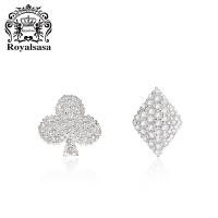 皇家莎莎几何耳钉韩国925银耳扣耳饰品女气质日韩耳坠情人节礼物送女友