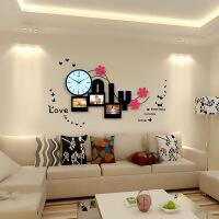 创意相框挂钟现代简约客厅钟表装饰时钟静音卧室挂表石英钟 20英寸以上