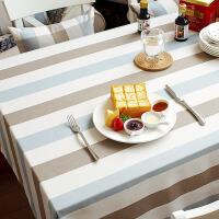 ???桌布布艺台布格子家用简约棉麻清新正方形小欧式餐桌布长方形