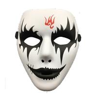 万圣节化妆舞会手绘白色鬼步舞面具男街舞面具恐怖面具鬼舞步面具 火云