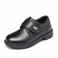 儿童小皮鞋黑色2019春秋新款牛皮男童英伦风演出鞋中大童花童皮鞋礼服鞋