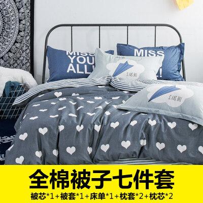 床上被子冬被四件套纯棉全棉加厚保暖被套装送枕芯套装全套带被芯 一般在付款后3-90天左右发货,具体发货时间请以与客服协商的时间为准