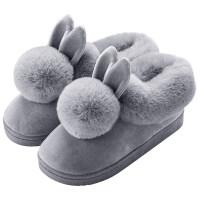 雪地靴情侣款ins可爱情侣棉鞋女冬季加绒小短靴2018新款保暖居家毛毛绒雪地靴 TBP