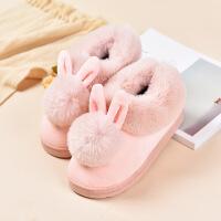 №【2019新款】小朋友穿的可爱亲子棉拖鞋包跟女儿童小孩男女童毛毛室内居家居棉鞋