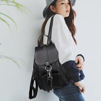 时尚双肩包女真皮2017新款韩版牛皮女士包包休闲女包百搭软皮背包