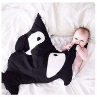 ins鲨鱼咬一口 Baby棉新生婴儿春秋防踢抱被外出服宝宝睡袋