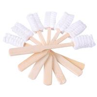 月子牙刷产后一次性牙刷纱布产妇用品30支装18年月到期 木质色