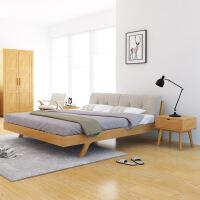 【一件3折】北欧日式极简全实木床TB08 日式现代性价比小户型 1.5米1.8米婚床双人床