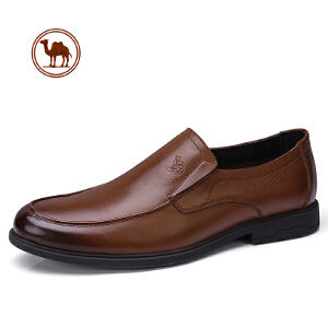 骆驼牌男鞋春季新款商务正装皮鞋男牛皮套脚办公室皮鞋男