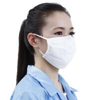 脱脂纱布口罩纯棉可清洗加厚男工业口罩女冬季透气防尘防雾霾白色