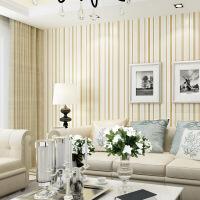 3d精压立体卧室无纺布墙纸 电视背景墙壁纸客厅现代条纹纯色欧式 仅墙纸