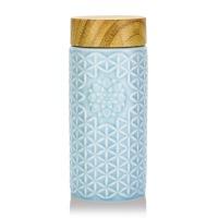 乾唐轩活瓷生命之花阳光随身杯单层400ml陶瓷水杯子送客户送朋友