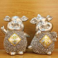 树脂工艺品摆件 欧式情侣幸福猪装饰摆设 创意结婚礼品 图片色