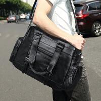 手提包男包休闲旅行包大韩版潮商务男士包包单肩斜挎包健身行李包