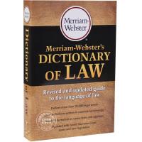 现货 韦氏法律词典字典 英文原版 Merriam-Webster's Dictionary of Law 韦氏法律专业