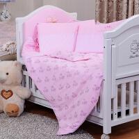 婴儿床床上用品七件套 针织棉全套 可洗含床围保暖婴儿床品 120*60