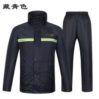 雨衣雨裤套装电动车摩托车双层加厚雨披男女式分体雨衣js8