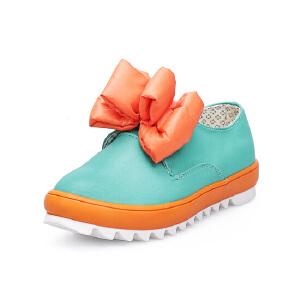 比比我 女童中小童糖果色休闲鞋 儿童鞋