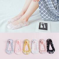 儿童隐形船袜女花边蕾丝公主小孩袜子硅胶防滑夏季薄款