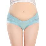 蕾丝透气低腰 孕妇内裤棉莫代尔大码托腹裤头女产妇孕期
