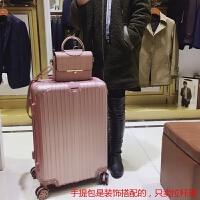 行李箱万向轮皮箱拉杆箱男女26寸登机旅行箱包20学生密码箱子24寸 玫瑰金防刮拉丝款 飞机轮