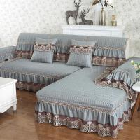 欧式沙发垫四季通用布艺防滑全包�f能真皮沙发套罩巾定做 灰色 雅典娜