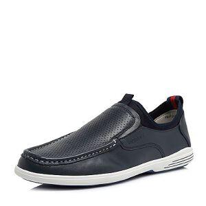 Teenmix/天美意2018夏专柜同款牛皮舒适平跟男休闲鞋67Q02BM8