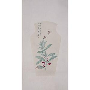 画家  李秋君《花卉草虫》