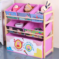 卡通玩具收纳架 创意客厅木制布抽儿童玩具简约实用架幼儿园宝宝整理架子