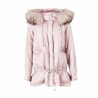 【1件3折到手价:389.7】美特斯邦威羽绒服女冬装新款休闲紫色外套保暖真毛领外套潮女士