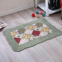 绗缝拼布纯棉门垫地垫客厅布艺卧室垫子床边地毯进门入门地垫脚垫
