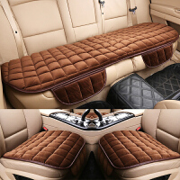 汽车坐垫冬季三件套单片短毛绒无靠背后排防滑座垫保暖单座通用