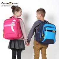 卡拉羊小学生书包女日韩潮1-3-4-6男生减负护脊双肩背包儿童书包