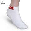 准者运动袜子棉吸汗防臭秋冬季短袜长袜黑白 篮球运动袜 w-02